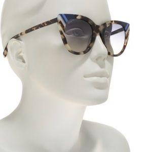 Salvatore Ferragamo 50mm Havana Cat Eye Sunglasses